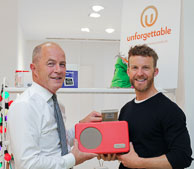 Cormac Tobin CEO Lloyds Pharmacy and James Ashwell, Founder Unforgettable