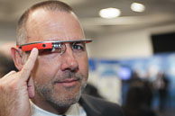 One of the first people to test Google Glass
