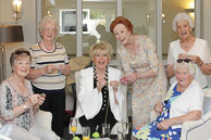 Press PR Testimonial Gloria Hunniford & guests enjoy a crochet masterclass by Royal Voluntary Service GrandMaker Celia Dennis